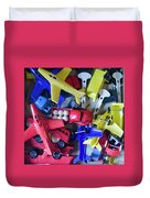 Colorful Plastic Toys #1 Duvet Cover