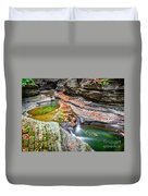 Colorful Pool In The Gorge Of Watkins Glen Duvet Cover