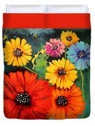 Colorful Poppy Warm No.1 Duvet Cover