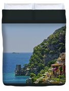 Colorful Positano Duvet Cover