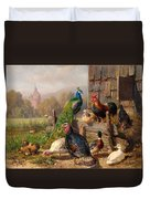 Colorful Poultry Duvet Cover