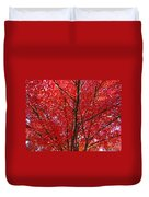 Colorful Red Orange Fall Tree Leaves Art Prints Autumn Duvet Cover