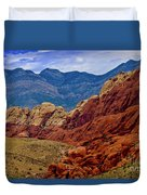Colorful Red Rock Duvet Cover