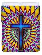 Colorful Retro Cross Duvet Cover
