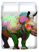 Colorful Rihno Duvet Cover