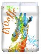 Colorful Safari Animals D Duvet Cover
