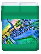 Colorful Sailboat Duvet Cover