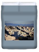 Colorful San Francisco Duvet Cover