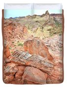 Colorful Sandstone In Wash 3 - Valley Of Fire Duvet Cover