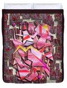 Colorful Scrap Metal Duvet Cover
