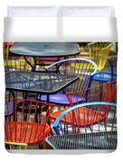 Colorful Seating Duvet Cover
