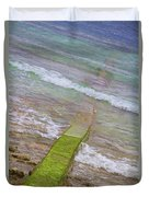 Colorful Seawall Duvet Cover