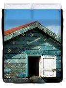 Colorful Shack Duvet Cover