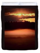 Colorful Skies Nearing Sunset Duvet Cover