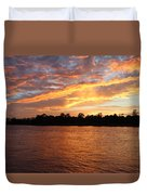 Colorful Sky At Sunset Duvet Cover