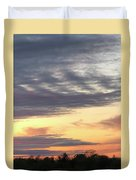 Sherbet Colored Sky Duvet Cover