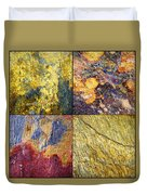 Colorful Slate Tile Abstract Composite Sq1 Duvet Cover