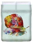 Colorful Snail Art  Duvet Cover