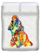 Colorful Spaniel Duvet Cover