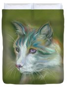 Colorful Spirit Tabby Cat Duvet Cover by MM Anderson