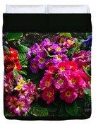 Colorful Spring Primrose By Kaye Menner Duvet Cover