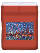 Colorful St Louis Skyline Duvet Cover