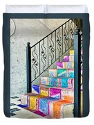 Colorful Stairs Duvet Cover