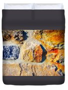 Colorful Stone Duvet Cover