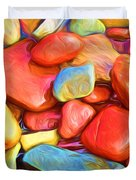 Colorful Stones Duvet Cover