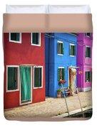 Colorful Street Duvet Cover