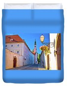Colorful Street Of Baroque Town Varazdin  Duvet Cover