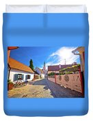Colorful Street Of Baroque Town Varazdin View Duvet Cover