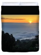 Colorful Sunrise Above The Clouds Duvet Cover