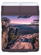 Colorful Sunset At Hanging Rock Duvet Cover