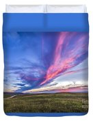 Colorful Sunset At The Reesor Ranch Duvet Cover