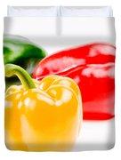 Colorful Sweet Peppers Duvet Cover by Setsiri Silapasuwanchai