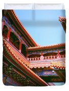 Colorful Temple Walkway Duvet Cover