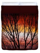 Colorful Tree Branches Duvet Cover