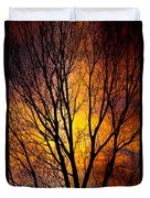 Colorful Tree Silhouettes Duvet Cover