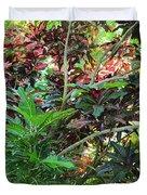 Colorful Tropical Plants Duvet Cover