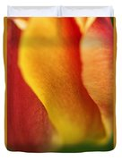 Colorful Tulip Closeup Abstract Duvet Cover