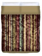 Colorful Vertical Stripes Background In Vintage Retro Style  Duvet Cover