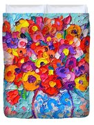 Colorful Wildflowers - Abstract Floral Art By Ana Maria Edulescu Duvet Cover