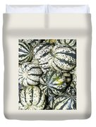 Colorful Winter Acorn Squash On Display Duvet Cover