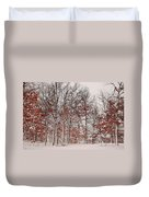 Colorful Winters Day Duvet Cover