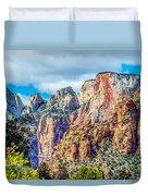 Colorful Zion Canyon National Park Utah Duvet Cover