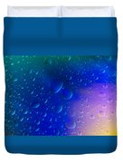 Colorfull Water Drop Background Abstract Duvet Cover