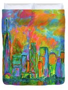 Coloring The Big Apple Duvet Cover