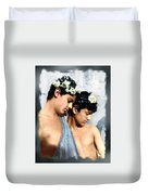 Colorized Edoardo And Vincenzo Galdi By Pluschow Duvet Cover