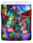 Colors And Geometries For A Violin  Duvet Cover